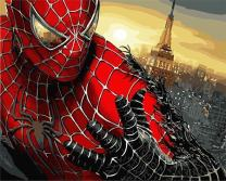 DoMyArt DIY Oil Painting, Paint by Number Kits - Spider Man 16X20 Inch (Frameless, JUST Canvas)