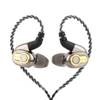 Linsoul BLON BL05 2nd Generation 10mm CNT Diaphragm HiFi in-Ear Earphone with 0.78mm 2Pin Detachable Cable(with Mic, BL05-Black)
