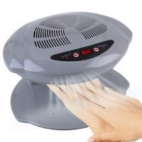 Hot & Cold Air Nail Dryer Warm-Cool Manicure Drying Fan Manicure Tool for Salon and Home(Silver)