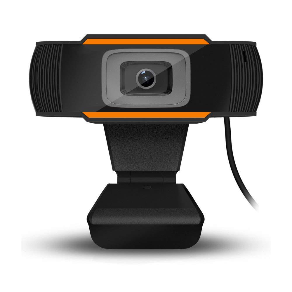 Yidarton 1080P HD Webcam with Microphones,Webcam for Gaming Conferencing Recording,Laptop Desktop Webcam,USB Computer Camera for Mac YouTube Skype OBS, Free-Driver Installation Auto Focus (Orange)
