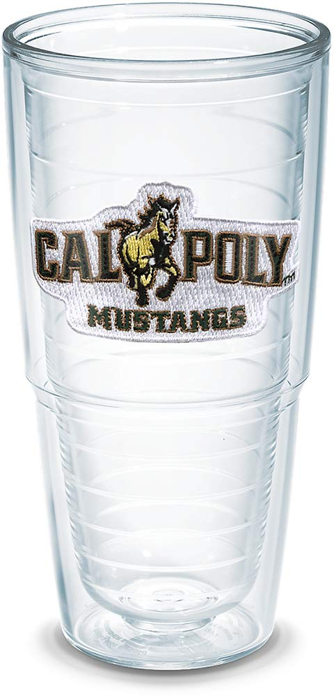 Tervis Cal Poly Mustang Emblem Individually Boxed Tumbler, 24 oz, Clear