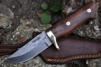 Perkin Knives- Custom Handmade Damascus Hunting Knife - Beautiful Camping Knife