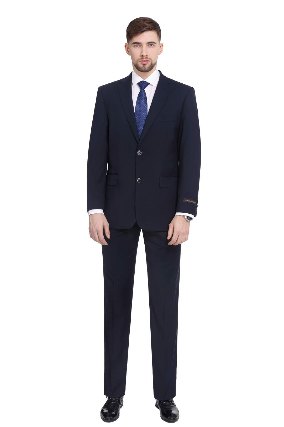 P/&L 2-Piece Mens Classic Fit Wool Blend Dress Suit Jacket /& Pants Set