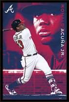 """Trends International MLB Atlanta Braves - Ronald Acuña Jr, 22.375"""" x 34"""", Black Framed Version"""