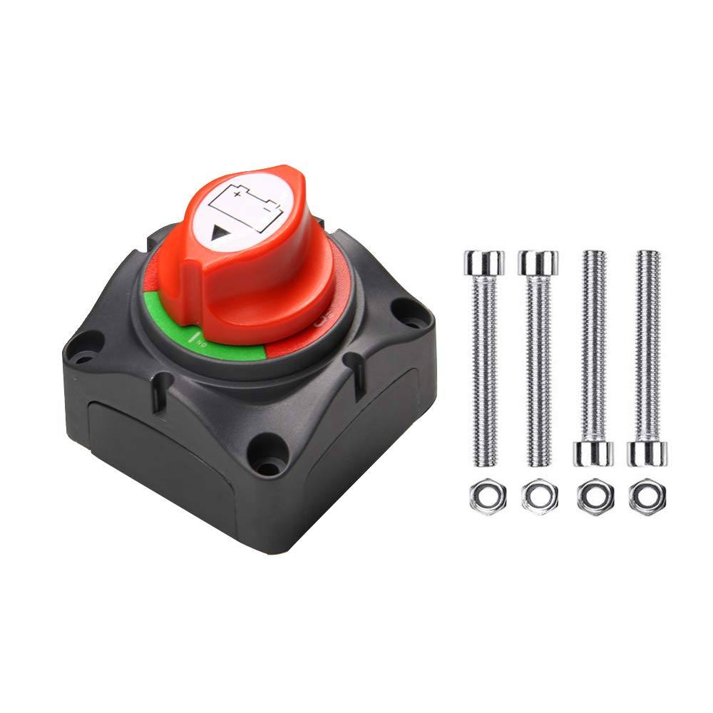 A ABIGAIL Battery Switch 12-48 V 275/1250 Amps Battery Power Cutoff Master Switch Disconnect Isolator for Car Vehicle RV ATV UTV Marine Boat On Off Position