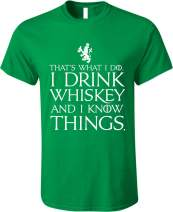 GunShowTees Men's That's What I Do I Drink and I Know Things GoT Shirt