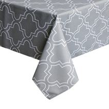 UFRIDAY 60 Wide x 102 Long Tablecloth with Printed Pattern, Fabric Table Cloth for Rectangle Tables