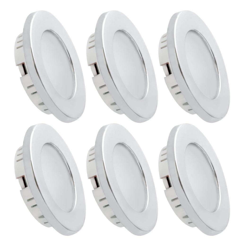Dream Lighting 2W LED Ceiling Light - Silver Shell Recessed Downlight Pack of 6