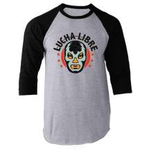 Wrestling Retro Vintage Wrestler Heel Babyface Raglan Baseball Tee Shirt