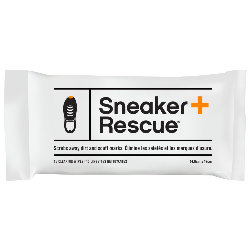 SneakerRescue All-Natural Cleaning Wipes for Athletic Shoes, Tennis Shoes and Sneakers. Sneaker Cleaning Wipe Removes Dirt, Grass Stains and Mud. 15 Wipes