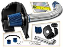 Cold Air Intake System with Heat Shield Kit + Filter Combo BLUE Compatible For 14-17 Chevy Silverado 1500 / GMC Sierra 1500 4.3L V6