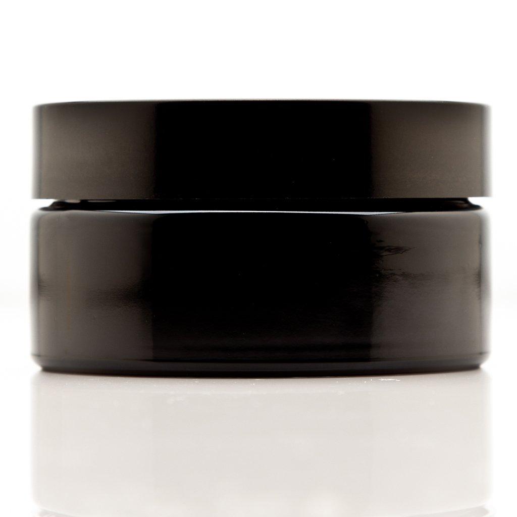 Infinity Jars 200 ml (6.76 fl oz) Cosmetic Style Ultraviolet Refillable Empty Glass Screw Top Jar