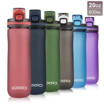 Opard Sports Water Bottle, 20 Oz BPA Free Non-Toxic Tritan Plastic Water Bottle with Leak Proof Flip Top Lid for Gym Yoga Fitness Camping