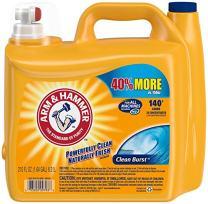 Arm & Hammer Laundry Detergent Liquid He, Clean Burst, 210 Ounce