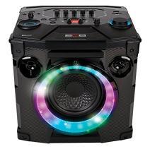 Bluetooth Wireless Speaker, Hex Encore Large Speaker with 2 Microphones Inputs, LED Lights and Huge Bass. Floorstanding or Bookshelf