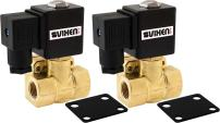 "Vixen Air 3/8"" NPT Air Ride Suspension High Flow Normally Closed Electric Air Valve (Solenoid) 250 PSI One Corner VXF4038-2"