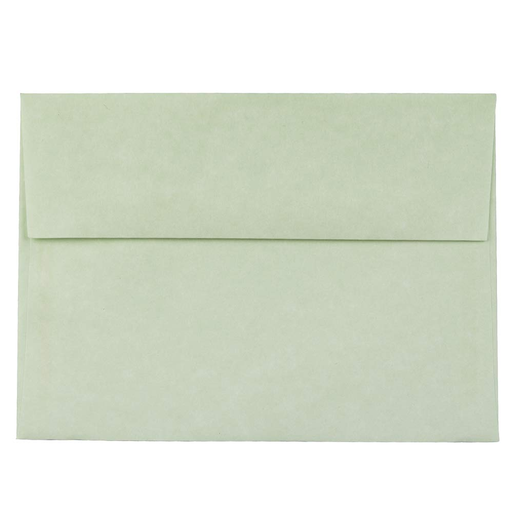 JAM PAPER A7 Parchment Invitation Envelopes - 5 1/4 x 7 1/4 - Green Recycled - 50/Pack