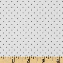 Riley Blake Designs 0315120 Riley Blake Swiss & Dots White/Gray Fabric by the Yard