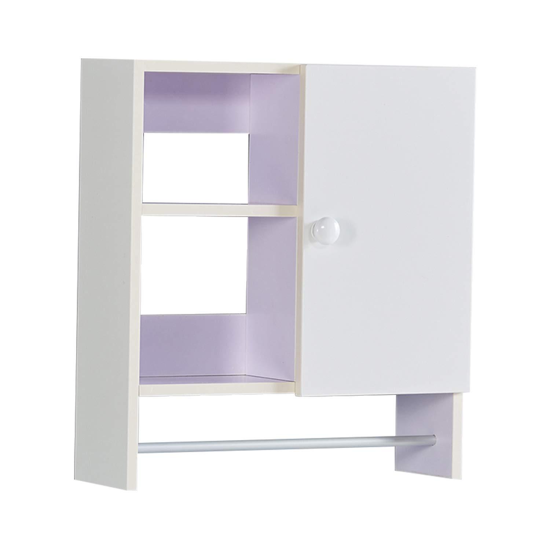 Bathroom Organizer Storage Wall Cabinet, Over The Toilet Storage Cabinets for Bathroom (Warm White)