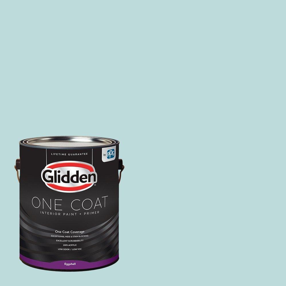 Glidden Interior Paint + Primer: Teal/Aqua Interior Paint /Misty Aqua, One Coat, Eggshell, 1 Gallon