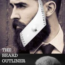 Beardoptima Beard Line Up Tool — Facial Hair Outliner Guide Tool for Men — Makes Styling Easy and Clean — Shape Up Your Beard! — 2 Style Kit: Rounded and Square