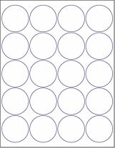 """Laser/Ink Jet White Labels (2"""" Round - 20 Per Page   2000 Labels)"""