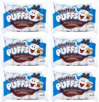 Stuffed Puffs - Classic Milk Chocolate 6 Pack, Chocolate Filled Marshmallows Made with Real Chocolate, Perfect for S'mores and Snacking, 6 bags (8.6 oz each)