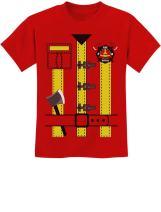 Halloween Fireman Uniform Firefighter Costume Youth Kids T-Shirt