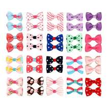 "40 pcs 1.8"" Baby Accessories Ribbon Hair Bow Clips Printed Pattern Barrettes Hairpins Hair Accessories for Girl Teens Kids Babies Toddlers(20 Pairs)"