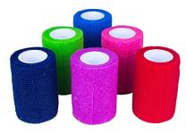 """Ever Ready First Aid Self Adherent Cohesive Bandages 2"""" x 5 Yards - 12 Count, Rainbow Colors"""