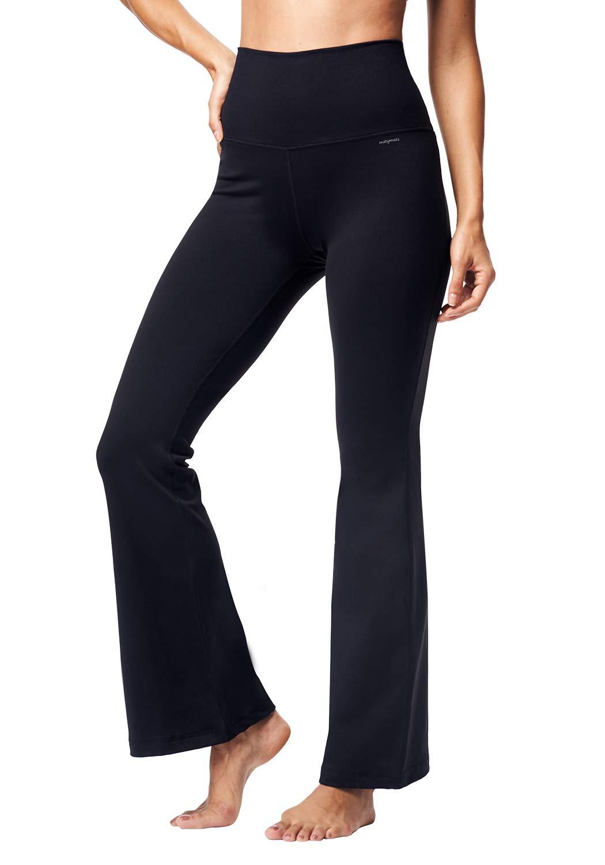 Matymats Bootcut Yoga Pants Women's High Waist Wide Flare Pants Workout Dress Pants with Pockets