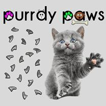 Purrdy Paws Soft Nail Caps for Cat Claws Grey