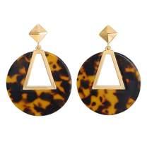 LILIE&WHITE Transparent Geometric Acrylic Dangle Earings