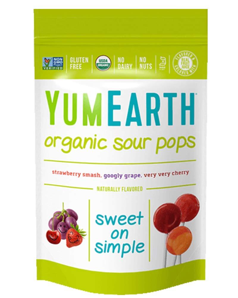 YumEarth Organic Sour Lollipops, 3 Ounces, 14 Lollipops, 6 pack