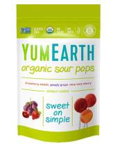 YumEarth Organic Sour Lollipops, 3 Ounces, 14 Lollipops, 6 pack