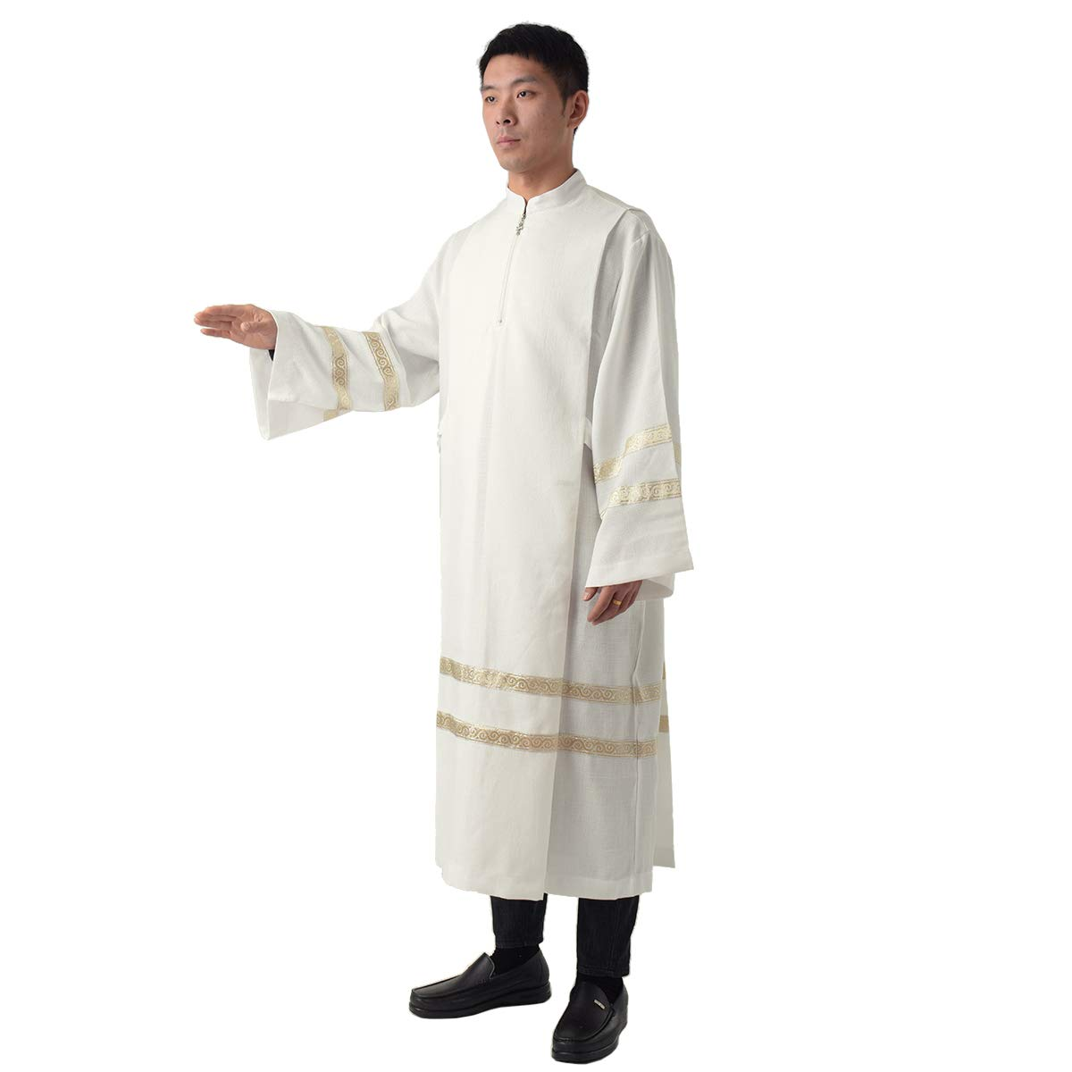 BLESSUME Unisex Concelebration Clergy ALB Church Worship ALB Vestments Robe