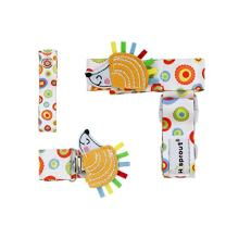 Hi Sprout Stop The Drop 3-in-1 Combo Pack, Pacifier Clip Holder, Cup Strap Holder, Toy Holder, Hedgehog