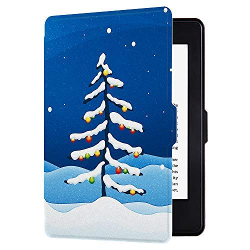 Huasiru Painting Case for Kindle Paperwhite, Snow Tree - fits All Paperwhite Gens Prior to 2018 (Will not fit All-New Paperwhite 10th Gen)