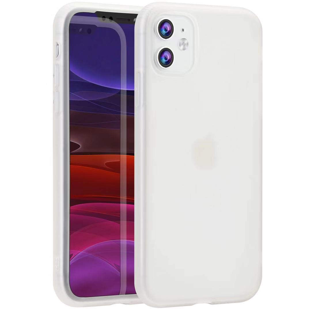 Tzomsze iPhone 11 Case, Liquid Silicone Latex Gel Rubber Case,Slim Ultra-Soft Translucent Matte Shock Absorbing Protective Case Cover-White