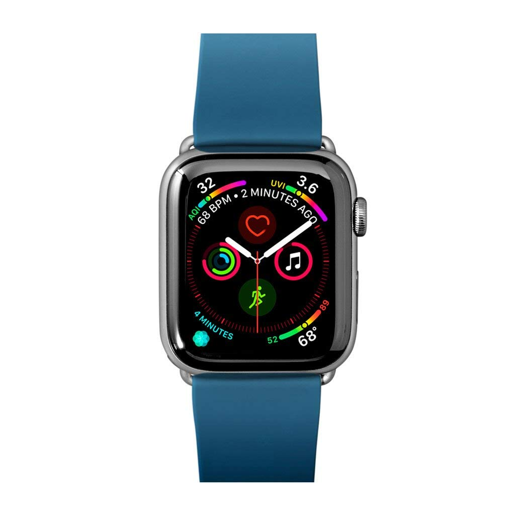 LAUT | Active Watch Strap for Apple Watch Series 1/2/3/4 | Durable Construction | Wipe Clean TPU Material | Stainless Steel Hardware (38mm / 40mm • Dark Teal)