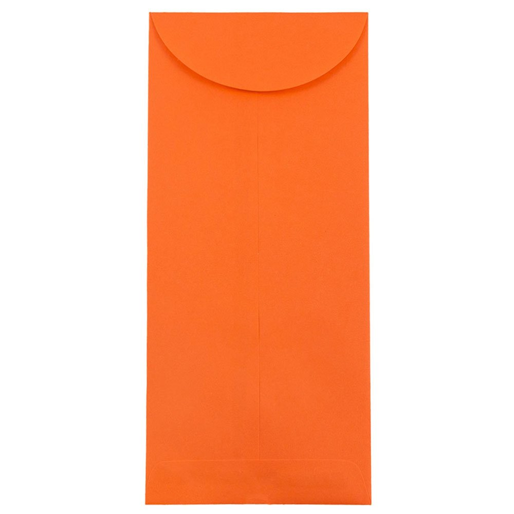 JAM PAPER #14 Policy Business Colored Envelopes - 5 x 11 1/2 - Orange Recycled - 50/Pack