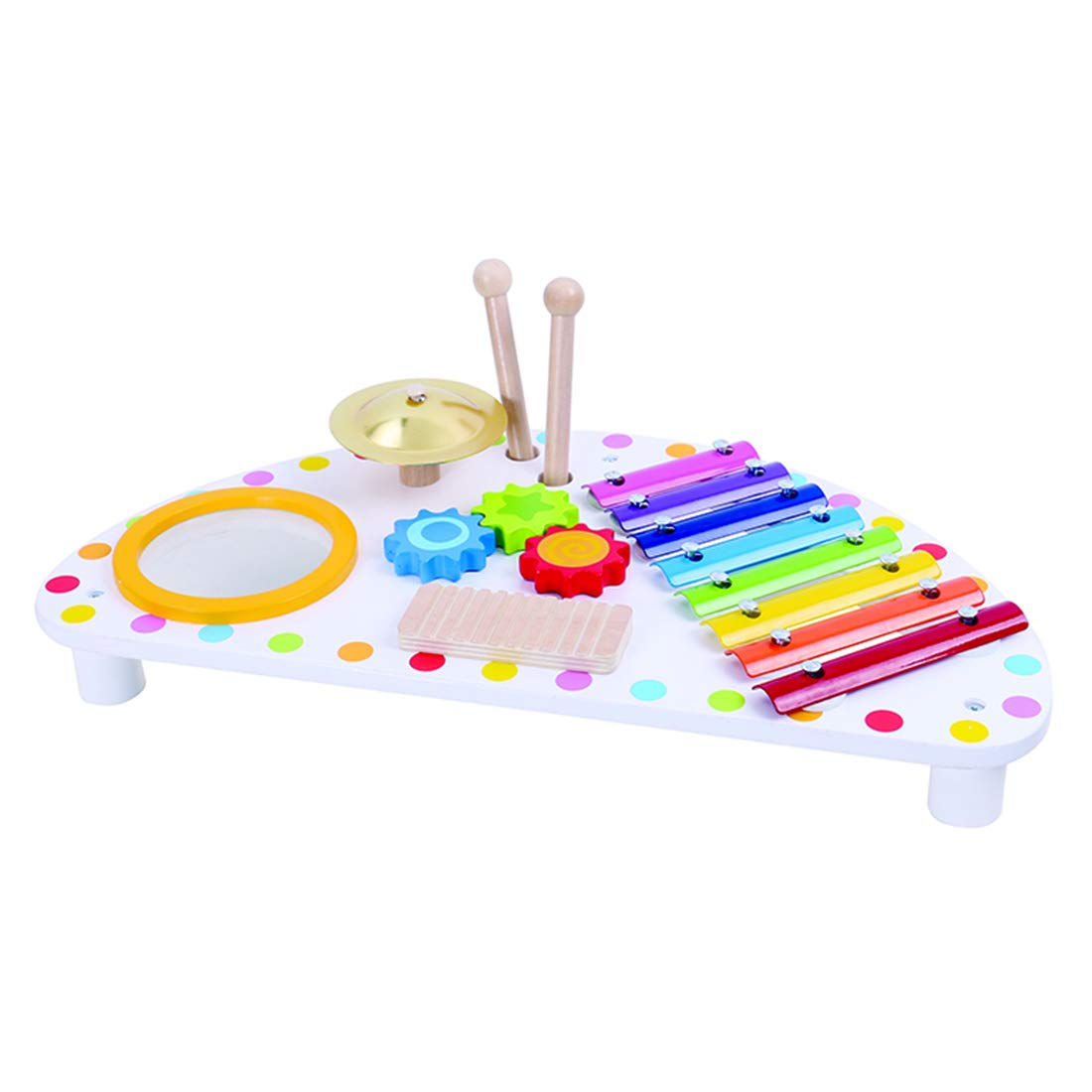 WEY&FLY Mini Xylophone for Toddlers, Mini Band Wooden Percussion Instrument, Educational Toys for Kids