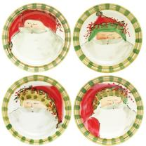 Vietri Old St. Nick Dinner Plate, Christmas Themed Earthenware in 4 Designs