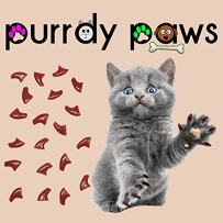 Purrdy Paws 40-Pack Soft Nail Caps for Cat Claws Brown