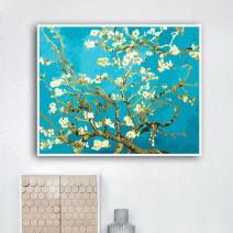 Faraway Almond Blossom Apricot Blossom by Van Gogh DIY Oil Painting, Paint by Number kit, Worldwide Famous Oil Painting 16x20 inch