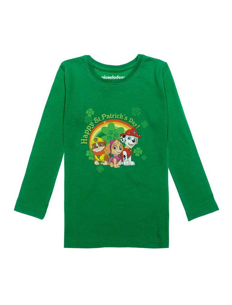 Happy St. Patrick's Day Paw Patrol Toddler Girls Fitted Long Sleeve T-Shirt