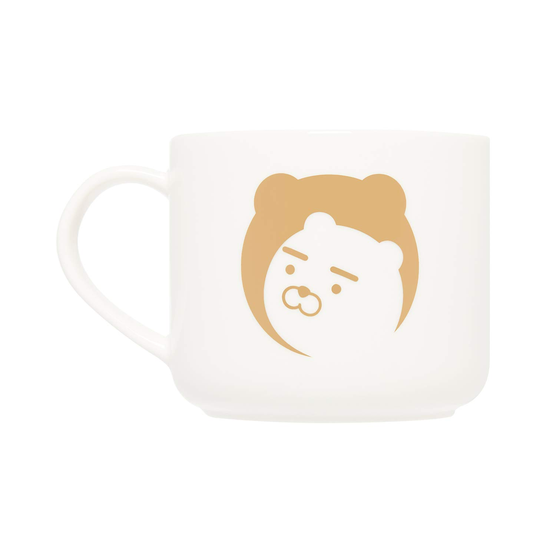 KAKAO FRIENDS Official- 24K Gold Foil Ceramic Mug 380ml (White)