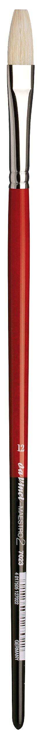 da Vinci Hog Bristle Series 7023 Maestro 2 Artist Paint Brush, Flat with European Sizing, Size 12