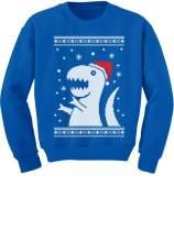 Big Trex Santa Ugly Christmas Sweater Style - Children Funny Kids Sweatshirt