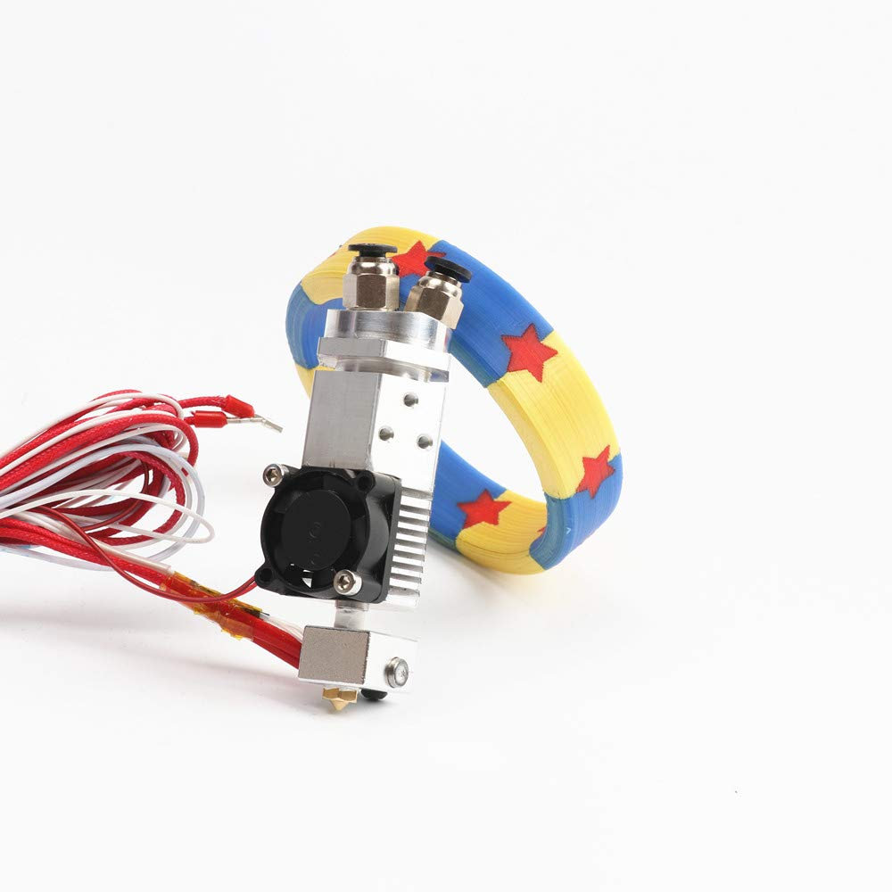 HE3D 3 in 1 Out Multi-Color Extruder hot end Kit 24V Three Colors Switching hotend kit for 0.4mm 1.75mm 3D Printer Parts